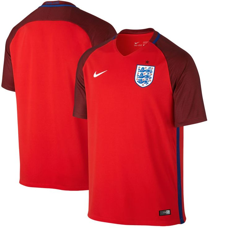 England National Team Nike Away Stadium Performance Jersey - Red