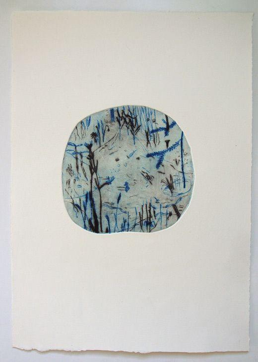 Karin Cyrén - dry point etching. Beautiful!