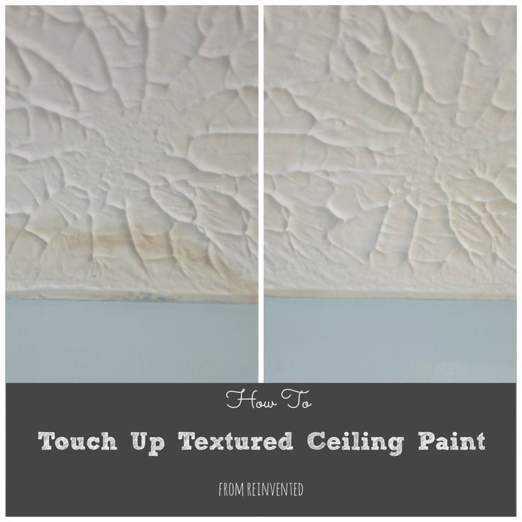 Do you have a textured ceiling with water stains, or paint spots from an overly enthusiastic paint roller?  Here's your solution!