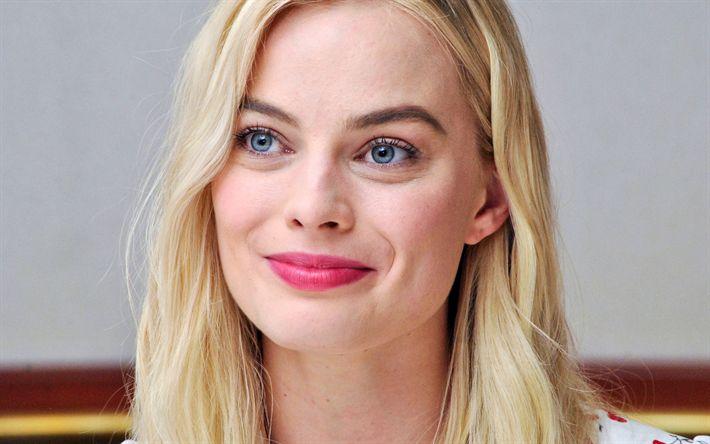 Lataa kuva Margot Robbie, 4k, Hollywood, muotokuva, blondi, australialainen näyttelijä, kauneus