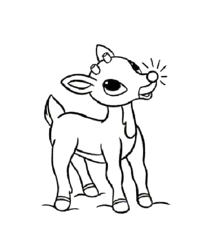Little Reindeer In The Christmas Coloring Pages