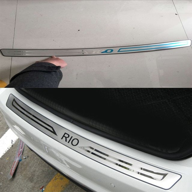1pcs Car Styling Stainless Steel Inner Rear Bumper Protector Sill