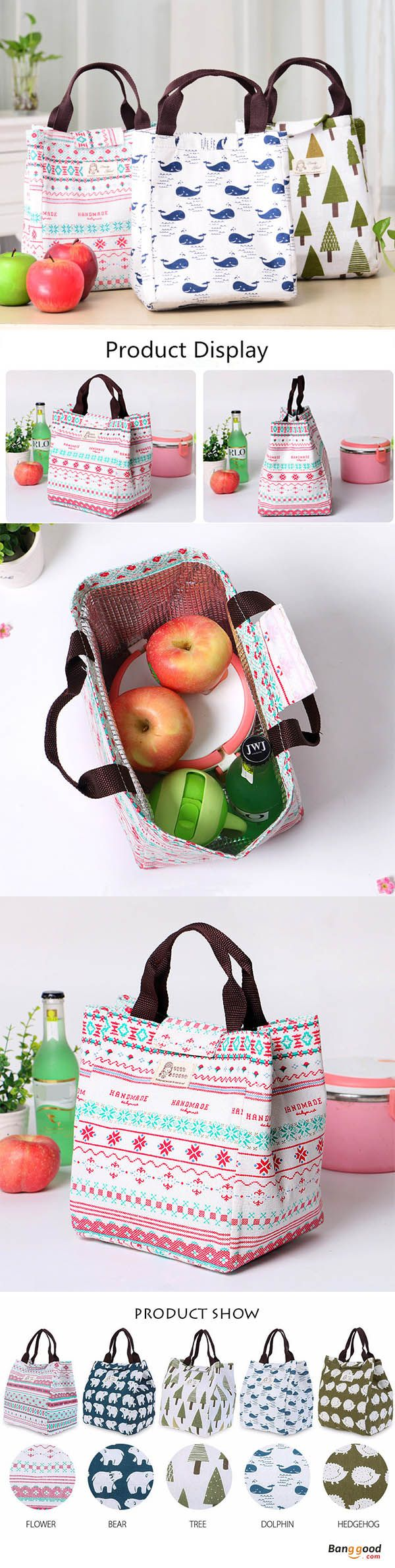 US$5.98 + Free shipping. Woman Hand-held Lunch Tote Bag Travel Picnic Cooler Insulated Handbag Waterproof Storage Containers. Made of canvas, 5 Colors to Match Your Style >>> To view further, visit now.