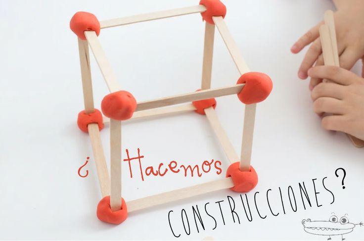 #JuegosdeConstruccion con palitos y plastilina  Una #ActividadInfantil ideal para preescolar