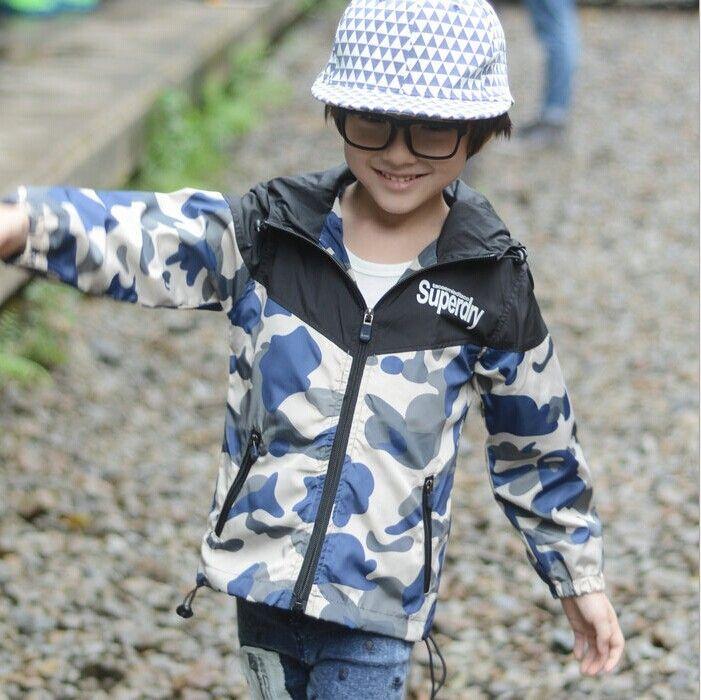 Продвижение, Новое поступление 2014 дети для детей мальчиков любимое британский стиль камуфляж спортивные куртки, Пригодный для 2 - 7 лет мальчики