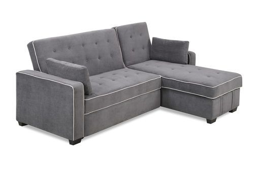 Augustine Convertible Sofa Bed Chaise Moon Grey By Serta Lifestyle Lifestyle Solutions For