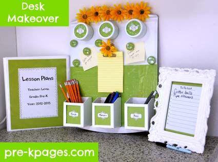 Teacher Desk Makeover Tutorial via www.pre-kpages.com #preschool #kindergarten