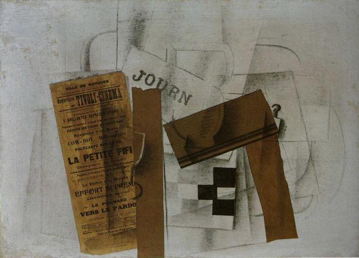checkerboard tivoli cinema -  Braque 1913
