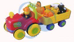 Interaktywny traktor ze zwierzątkami Traktor+Przyczepa