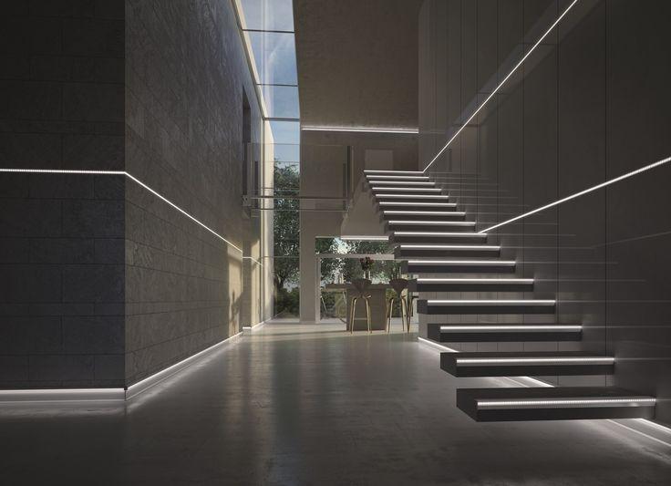 Built-in aluminium led module PROLISTEL LED LED Line by PROGRESS PROFILES