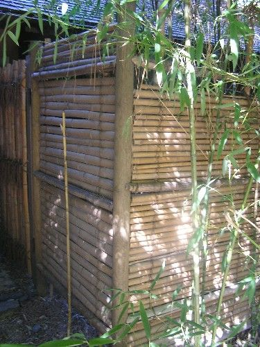 outdoor privacy screens ideas for outdoor screens and backyard retreats horizontal bamboo fence