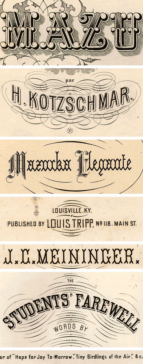 Antique Typography