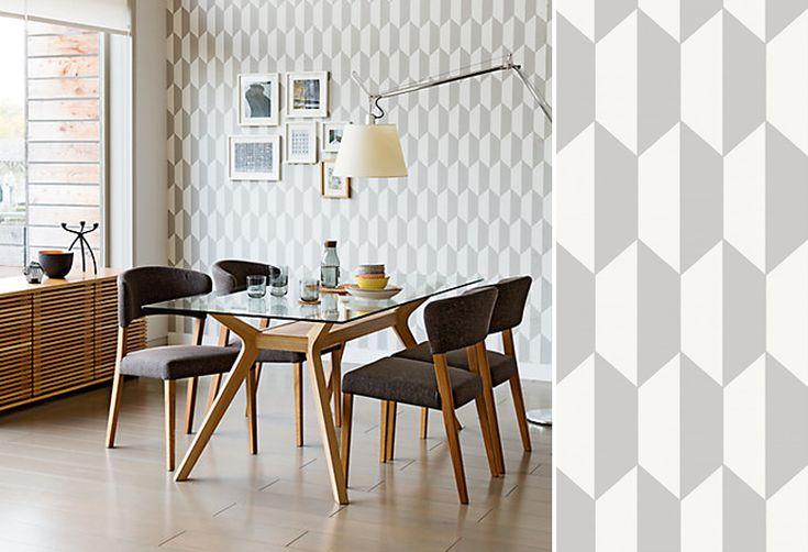 Les figures géométriques s'invitent sur les murs de nos intérieurs pour une touche très graphique.