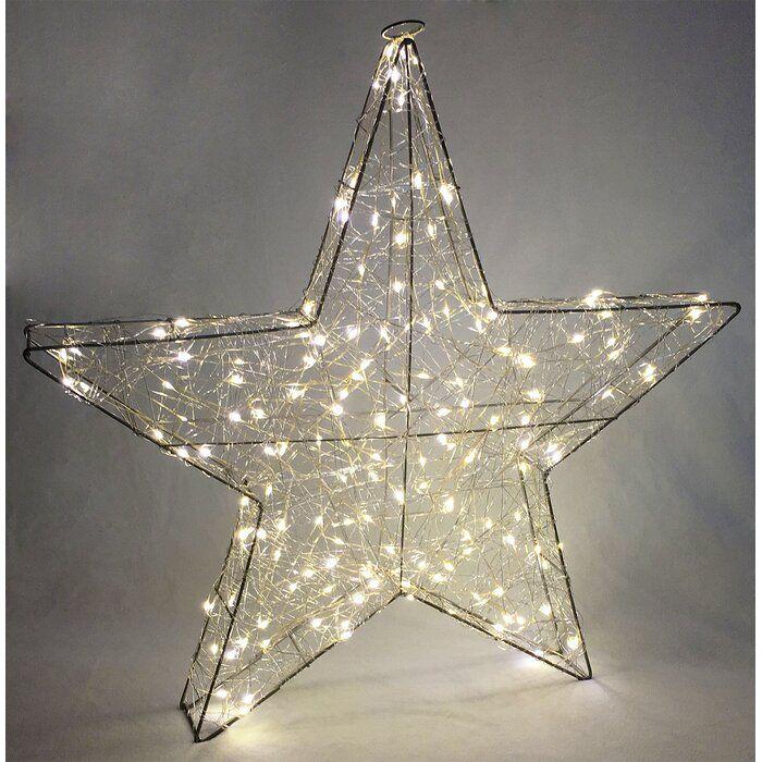 3d Star Light Plug In Lighted Display Snowflake Christmas Lights Snowflake Lights