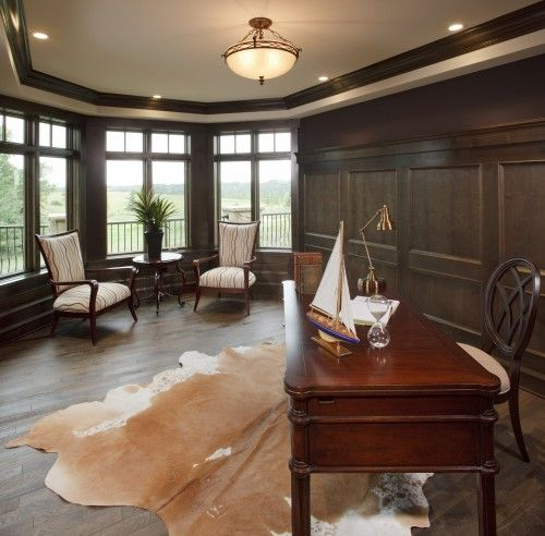 another manly traditional home office by a design group