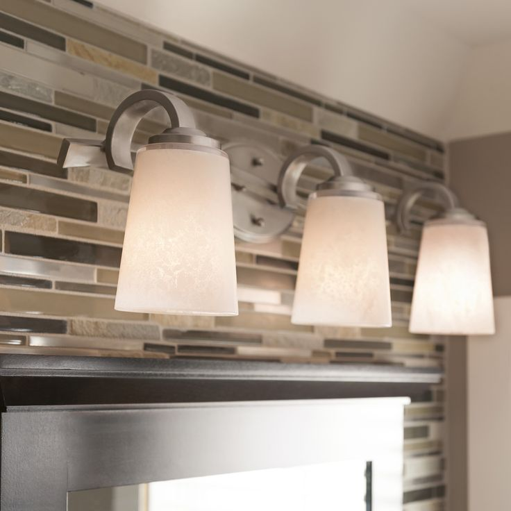 Shop Kichler Lighting 3 Light Oxby Brushed Nickel Bathroom Vanity Light At  Lowes.com
