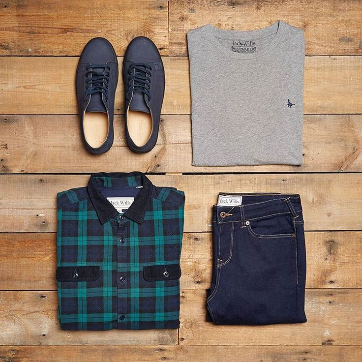 Gentlemen, get weekend ready for todays #OOTD. The Quainton flannel Shirt & The Newtown Suede Plimsole.