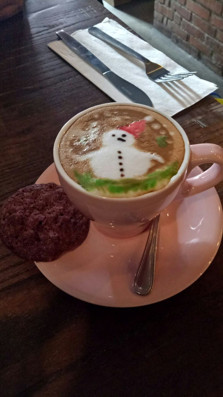 Christmas cappucino