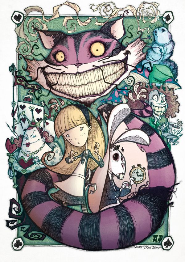 "ALICE IN coloured WONDERLAND by Andy ""Criki"" Parisi, via Behance"