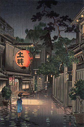 "Japanese Art Print ""Evening at Ushigome"" by Tsuchiya Koitsu. Shin Hanga and Art Reproductions http://www.amazon.com/dp/B00VCFVB96/ref=cm_sw_r_pi_dp_c7.swb0W24N6F"