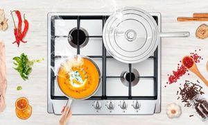 Groupon - Batterie de cuisine 5 pièces en inox 18/10 KitchenCook, compatible tous feux à 49,99€ (61% de réduction). Prix Groupon : 49,99€