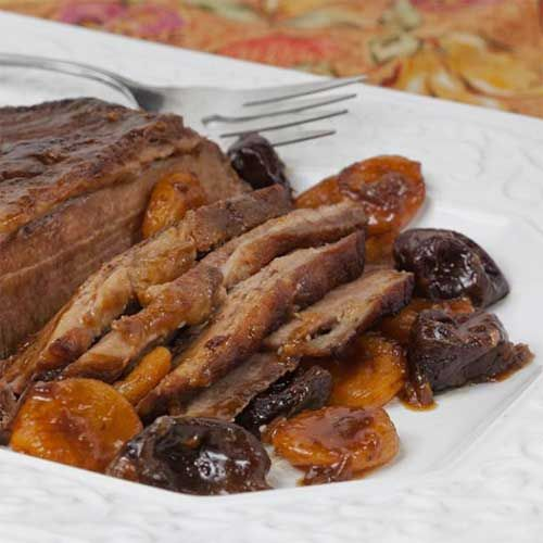 #Beef #Brisket with Prunes and Apricots