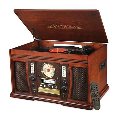 jcpenney.com | Victrola VTA-750B Aviator Wooden 7-in-1 Nostalgic Record Player with Bluetooth and Digital CD Encoding