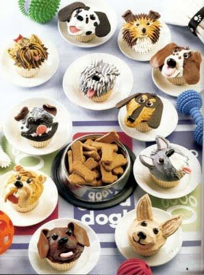 I see a Yorkie in there!! My favorite dog in cupcake form... AWESOME!