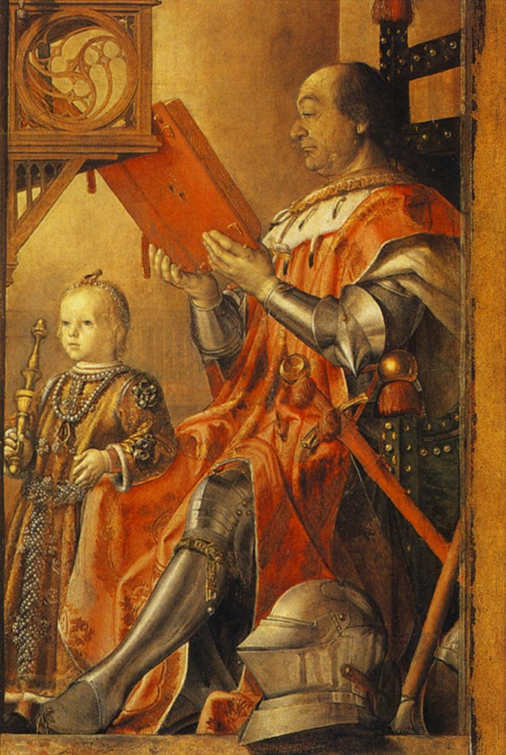 Joos van Ghent, Duke Federigo of Urbino and his son, Guidobaldo.c.1475.[Urbino]