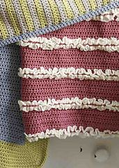 Ravelry: Make It Yours Ruffled Baby Blanket pattern by Lion Brand Yarn