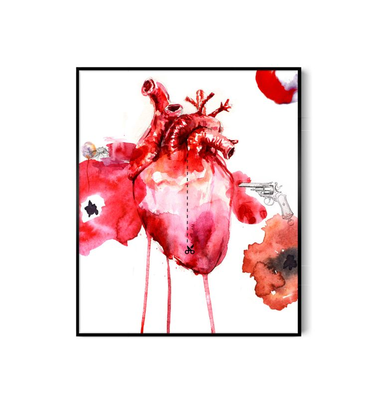 The Heart by AllWaterAndColors on Etsy