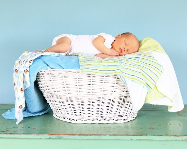 would be sweet on the stacks of laundry your baby creates
