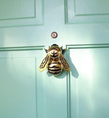 bee brass door knocker