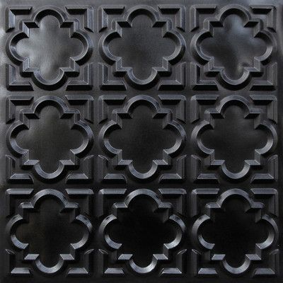 what if we used these on top of the coffee table? #142 Faux Tin Ceiling Tile Glue up 24x24 - Black | | Made of PVC on eBay!