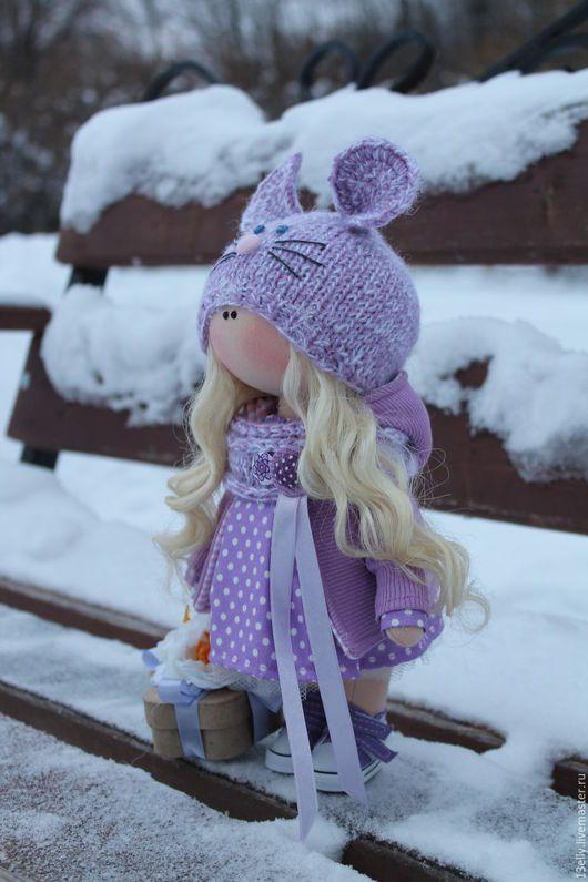 Dolls tykvogolovki handmade.  Lavender mouse.  Elena.  Online Store Fair Masters.  Interior doll, handmade