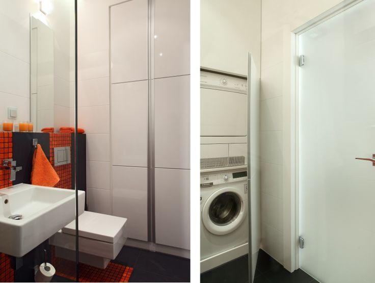 Mała łazienka z pralką. Pomysły na modną zabudowę  - zdjęcie numer 12