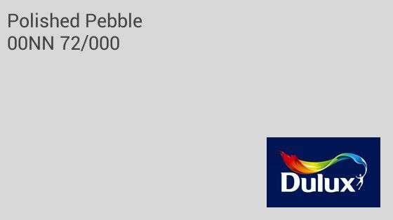 Dulux Polished Pebble for the walls?