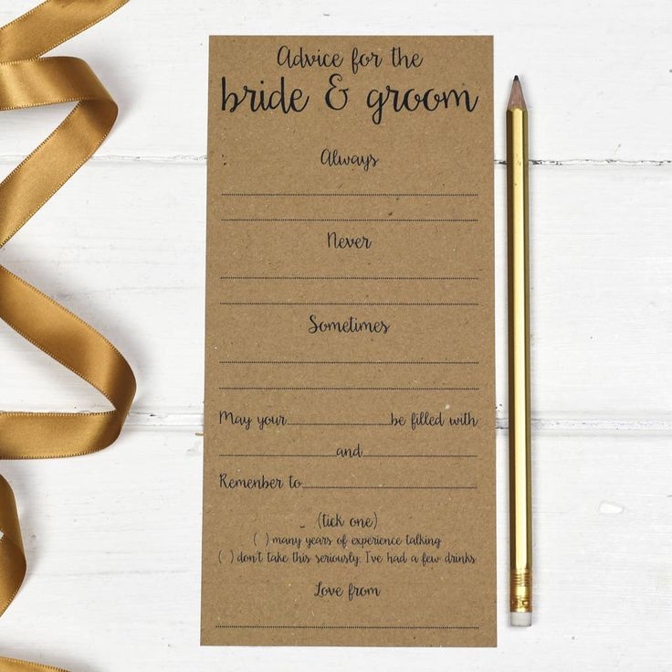 free bridal shower advice card template%0A Wedding Advice Cards Pack Of