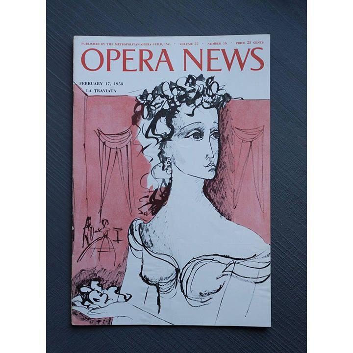 Opera News Volume 22 Number 16 February 17, 1958 by VintageGotham on Etsy #opera #magazine