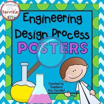 FREE Engineering Design Process Posters. Engineering Design Process Posters for your Science displays! Need a great bulletin board idea or a way to display the steps of the engineering process? Here's a terrific set of posters!