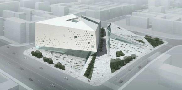 Bird Eye View Of Moma Chengdu Museum Architecture Design