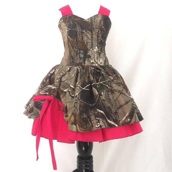 Camo Dress   Poppy Style Dress   Country Girl Style   Camo and Pink   Hunter Girl   CPSC Compliant