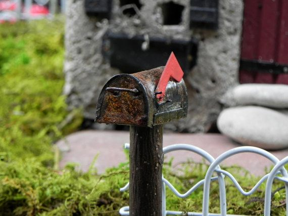Fairy Garden Accessories Mailbox miniature by TheLittleHedgerow