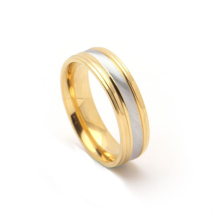 Hot sale new design gold color stainless steel black rings for women wedding engagement rings