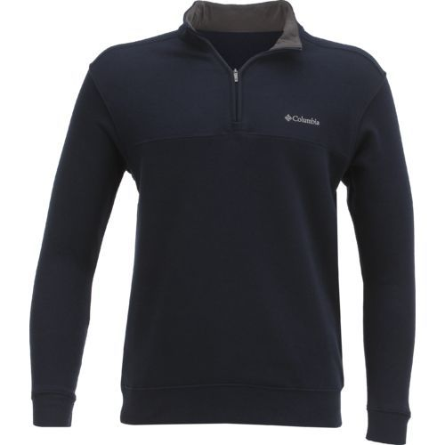 Columbia Sportswear Men's Hart Mountain II 1/2 Zip Jacket (Navy, Size Small) - Men's Outdoor Apparel, Men's Longsleeve Outdoor Tops at Academy Sports