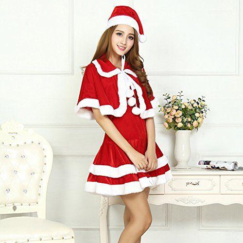 d1748568419a Women s Miss Santa Costume Christmas Sweet Girl Santa Claus Costume ...