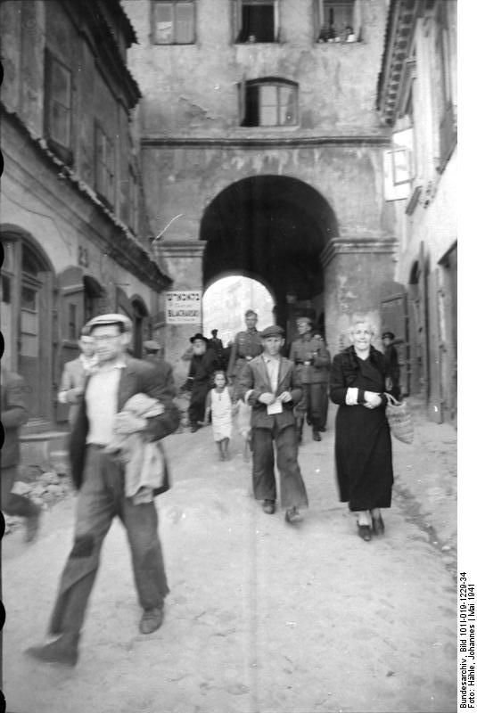 Lublin Brama Grodzka 1940-1941 jewish ghetto during German occupation.