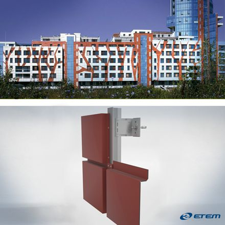 Ventilated Facade Systems by Etem System Romania  www.etem.ro
