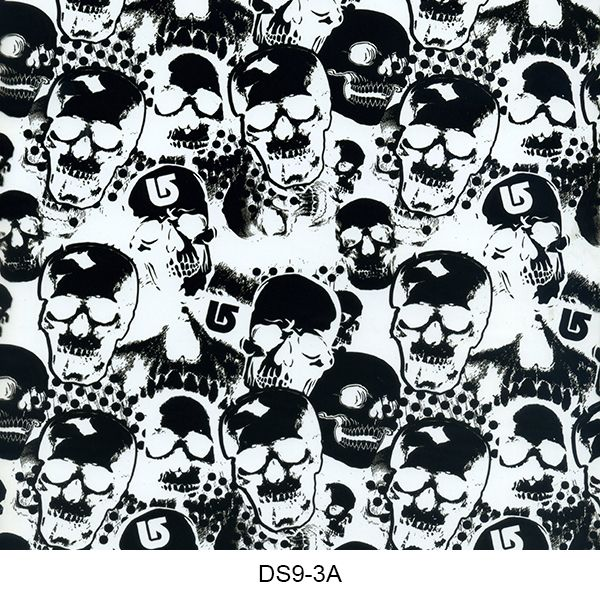 Hydrographics film skull pattern DS9-3A