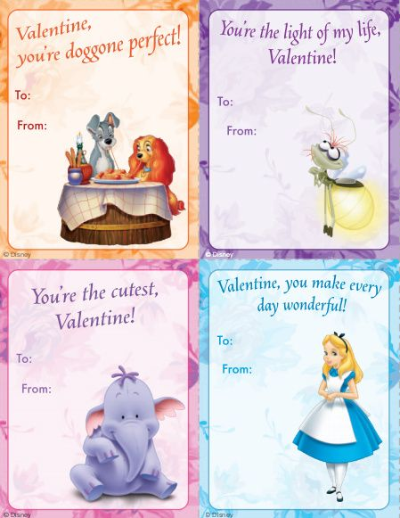FREE Disney Printable Classroom Valentines Day Cards! (Disney Princesses, Fairie...